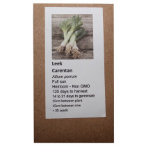 6 Degrees East Heirloom Veg Seeds - Leek - Carentan