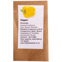 6 Degrees East Heirloom Veg Seeds - Pepper - California Wonder - Yellow