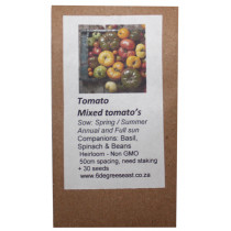 6 Degrees East Heirloom Veg Seeds - Tomato - My Favourite Mix