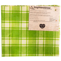 6 Degrees East Soy Wax Bread Wrap - Green