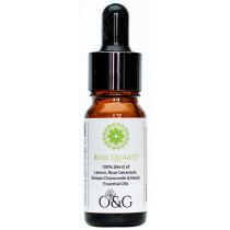 O & G Heart Chakra 100% Essential Oil Blend with Rose Quartz Gemstones