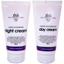 Victorian Garden Neroli & Lemon Day Cream & Carrot & Jasmine Night Cream - Value Pack