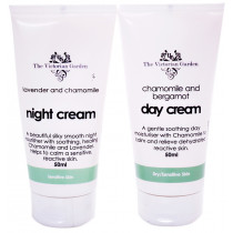 Victorian Garden Chamomile & Bergamot Day Cream & Lavender & Chamomile Night Cream - Value Pack