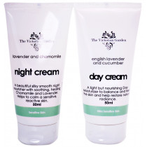 Victorian Garden Lavender & Cucumber Day Cream & Lavender & Chamomile Night Cream - Value Pack