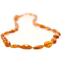 Baltic Amber for Africa Cognac Teardrop Teething Necklace