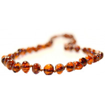 Baltic Amber for Africa Cognac Teething Necklace