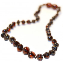 Baltic Amber for Africa Dark Cherry Teething Necklace