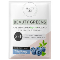 Beauty Gen Pure Hydrolised Peptan Collagen Sachets - Blueberry