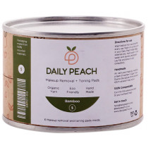 Daily Peach Makeup Removal + Toning Bamboo Pads