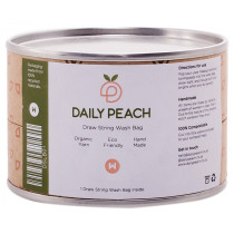 Daily Peach Drawstring Wash Bag
