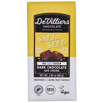De Villiers No-Added-Sugar Salt & Seed Dark Chocolate