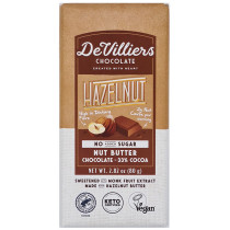 De Villiers No-Added-Sugar Hazelnut Nut Butter Chocolate