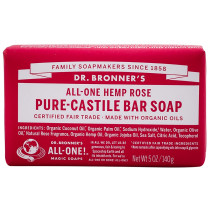 Dr. Bronner's Pure Castile Soap Bar - Rose