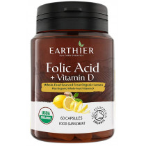 Earthier Organic Folic Acid & Vitamin D