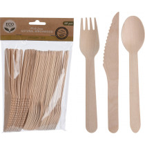 Eco Lifestyle Products Birchwood Cutlery Set
