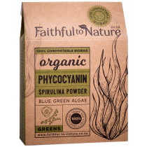 Faithful to Nature Organic Phycocyanin Spirulina Powder