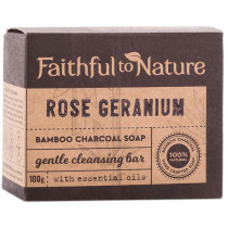 Faithful to Nature Bamboo Charcoal Soap - Rose Geranium
