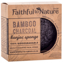 Faithful to Nature Konjac Sponge - Bamboo Charcoal
