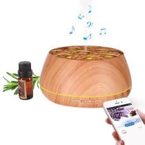 Ohm Cold Mist Ultrasonic Woodgrain Diffuser with Bluetooth