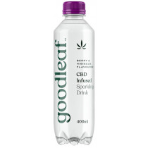 Goodleaf CBD Infused Sparkling Water - Berry & Hibiscus - 400ml