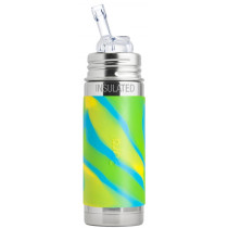 Pura Stainless Steel Aqua Swirl Straw Bottle, 260ml
