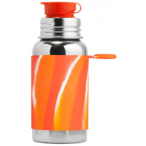 Pura Stainless Steel Orange Swirl Water Bottle
