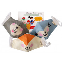 Hemporium Kids Face Mask - Cuties - 3 Pack