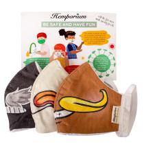 Hemporium Kids Face Mask - Macho - 3 Pack