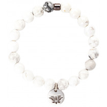 Live Light Howlite Gemstone Bracelet