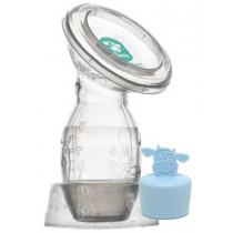 Moooka Silicone Breast Pump - Blue Stopper