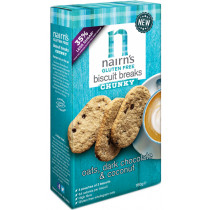 Nairn's Gluten Free Biscuits Breaks Chunky - Oats, Dark Chocolate & Coconut