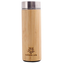 Natural Life Bamboo Wrapped Double Wall Flask