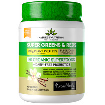 Nature's Nutrition Super Greens & Reds & Protein Vanilla