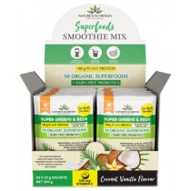 Nature's Nutrition Super Greens & Reds Protein Coconut & Vanilla