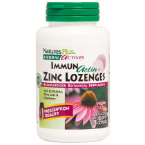 Natures Plus Herbal Actives ImmunActin Zinc Lozenges