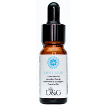O & G Throat Chakra 100% Essential Oil Blend with Lapis Lazuli Gemstones