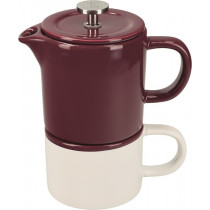 La Cafetiere Barcelona Ceramic Coffee for One - Plum