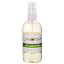 Pure Simple Geranium Castile Body Wash