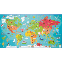 Scratch Puzzle 150 Piece Puzzle World Map
