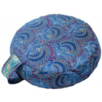 Simply Shweshwe Zafu Cushion - Blue Peacock
