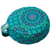 Simply Shweshwe Zafu Cushion - Verdant Mandala