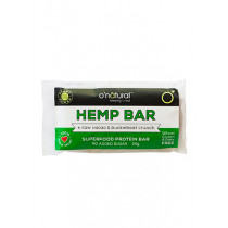 O'Natural Raw Chocolate Bar - Hemp Protein