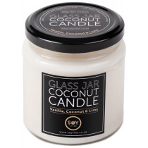 Soylites Coconut Candle - Clear Jar - Coconut, Vanilla, Lime