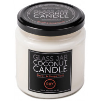 Soylites Coconut Candle - Clear Jar - Neroli, Grapefruit