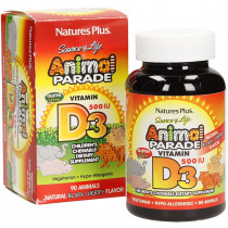 Animal Parade Vitamin D3 Sugar Free 500IU 90