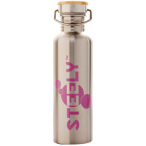Steely 100% Stainless Steel Bottle 750ml Bodacious Pink