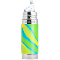 Pura Stainless Steel 260ml Insulated Sippy Bottle - Aqua Swirl