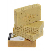 O'live Citrus & Raw Honey Scrub Soap