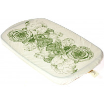 Halo Single Dish Cover Rectangle Edible Flowers - Paisley Green