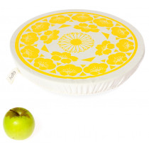 Halo Single Dish Cover Edible Flowers - Turmeric Yellow